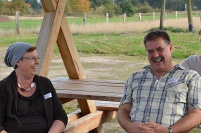 Frau Karsch und Herr Holtmann sitzen Probe©Oberschule Steimbke
