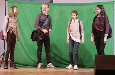 Musicalszene Wunderbare Welt©Oberschule Steimbke