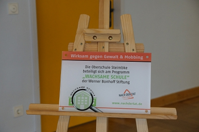 Wachsame Schule - Schild©Oberschule Steimbke